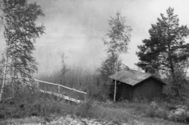 Svartvit bild av Jällsjön