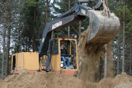 Köra grävmaskin event